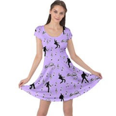 Elvis Presley  pattern Cap Sleeve Dresses