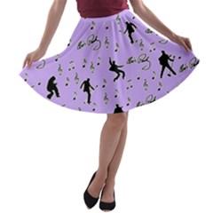 Elvis Presley  pattern A-line Skater Skirt