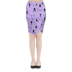 Elvis Presley  pattern Midi Wrap Pencil Skirt