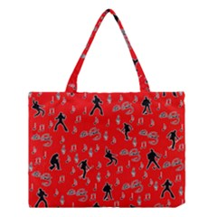Elvis Presley  pattern Medium Tote Bag