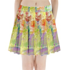 Paint texture                    Pleated Mini Mesh Skirt
