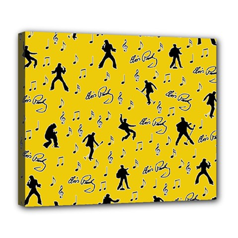 Elvis Presley  pattern Deluxe Canvas 24  x 20