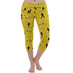 Elvis Presley  pattern Capri Yoga Leggings