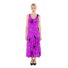Elvis Presley  pattern Sleeveless Maxi Dress