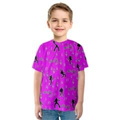 Elvis Presley  pattern Kids  Sport Mesh Tee