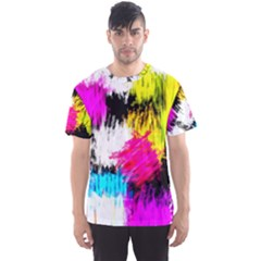 Colorful blurry paint strokes                         Men s Sport Mesh Tee