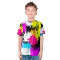 Colorful Blurry Paint Strokes                         Kid s Cotton Tee