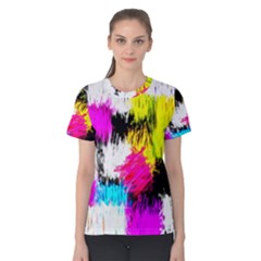 Colorful blurry paint strokes                         Women s Cotton Tee