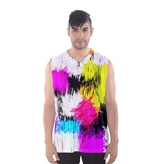 Colorful blurry paint strokes                         Men s Basketball Tank Top