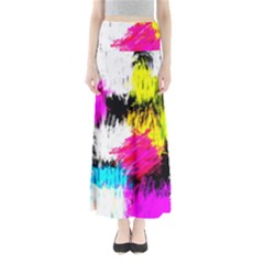 Colorful blurry paint strokes                    Women s Maxi Skirt
