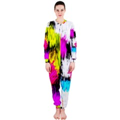 Colorful blurry paint strokes                         OnePiece Jumpsuit (Ladies)