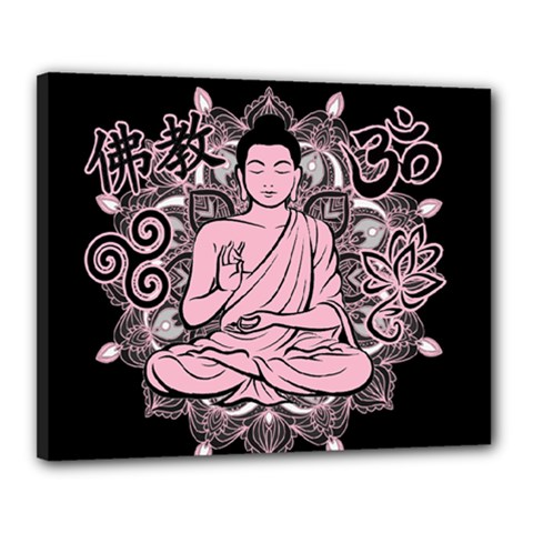 Ornate Buddha Canvas 20  x 16