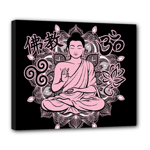 Ornate Buddha Deluxe Canvas 24  x 20