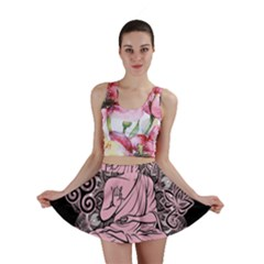 Ornate Buddha Mini Skirt