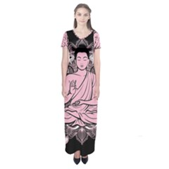 Ornate Buddha Short Sleeve Maxi Dress