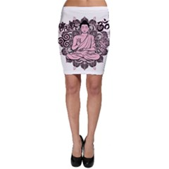 Ornate Buddha Bodycon Skirt