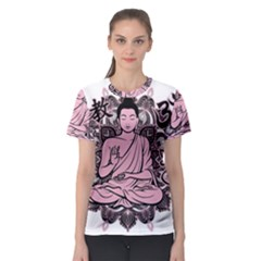 Ornate Buddha Women s Sport Mesh Tee