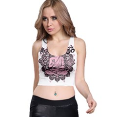 Ornate Buddha Racer Back Crop Top