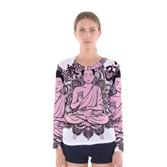 Ornate Buddha Women s Long Sleeve Tee