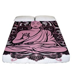 Ornate Buddha Fitted Sheet (King Size)
