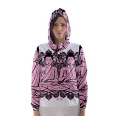 Ornate Buddha Hooded Wind Breaker (Women)