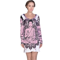 Ornate Buddha Long Sleeve Nightdress