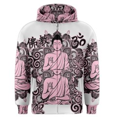 Ornate Buddha Men s Zipper Hoodie