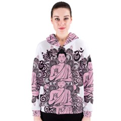Ornate Buddha Women s Zipper Hoodie