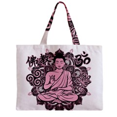 Ornate Buddha Zipper Mini Tote Bag