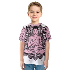 Ornate Buddha Kids  Sport Mesh Tee