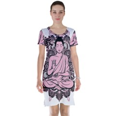 Ornate Buddha Short Sleeve Nightdress