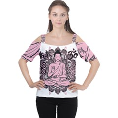 Ornate Buddha Women s Cutout Shoulder Tee