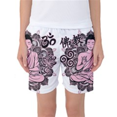 Ornate Buddha Women s Basketball Shorts