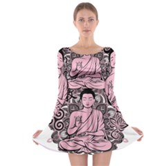 Ornate Buddha Long Sleeve Skater Dress