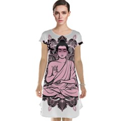 Ornate Buddha Cap Sleeve Nightdress