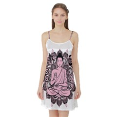 Ornate Buddha Satin Night Slip