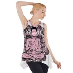 Ornate Buddha Side Drop Tank Tunic