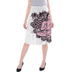 Ornate Buddha Midi Beach Skirt