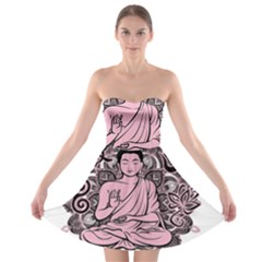 Ornate Buddha Strapless Bra Top Dress