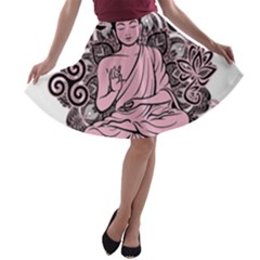 Ornate Buddha A-line Skater Skirt