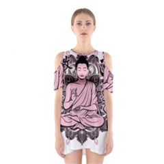 Ornate Buddha Shoulder Cutout One Piece