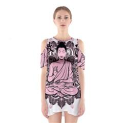 Ornate Buddha Shoulder Cutout One Piece