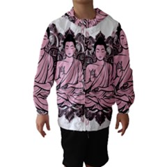 Ornate Buddha Hooded Wind Breaker (Kids)