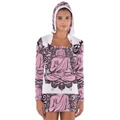 Ornate Buddha Women s Long Sleeve Hooded T-shirt
