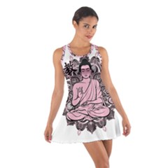 Ornate Buddha Cotton Racerback Dress