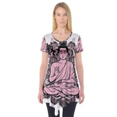 Ornate Buddha Short Sleeve Tunic