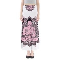 Ornate Buddha Full Length Maxi Skirt