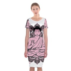Ornate Buddha Classic Short Sleeve Midi Dress
