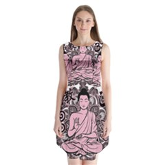 Ornate Buddha Sleeveless Chiffon Dress