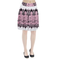 Ornate Buddha Pleated Skirt